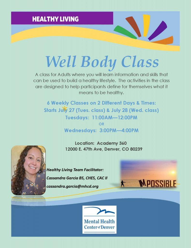 Well Body flyer 2 class offerings